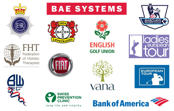 Some of the clients that Dr John Brazier has helped