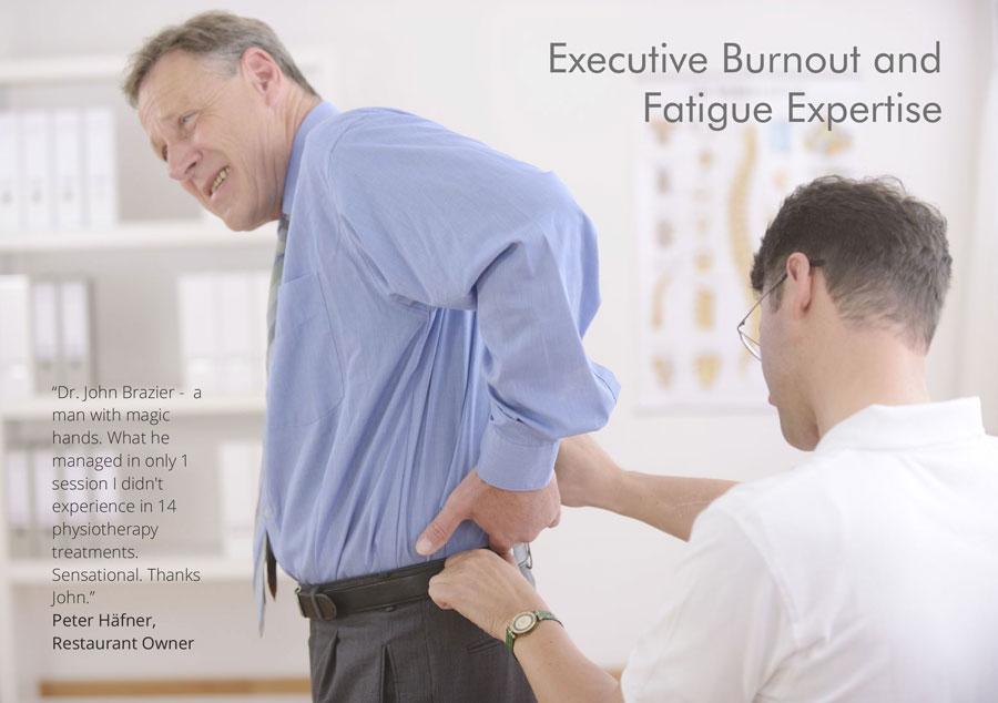 Dr John Brazier successfully treats executive burnout & fatigue